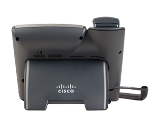 Rear of Cisco SPA502G IP Phone.