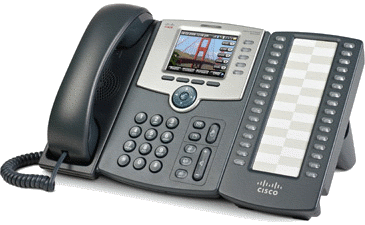 Cisco IP Phone with attendant console.