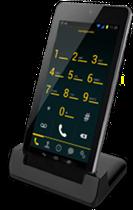 Google Nexus 7 docked with Bria VoIP app.